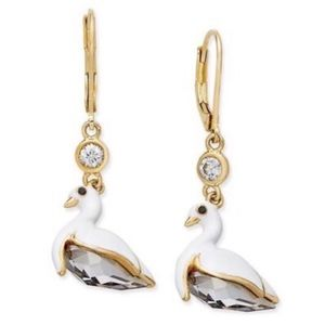KATE SPADE • On Pointe Swan Drop Earrings